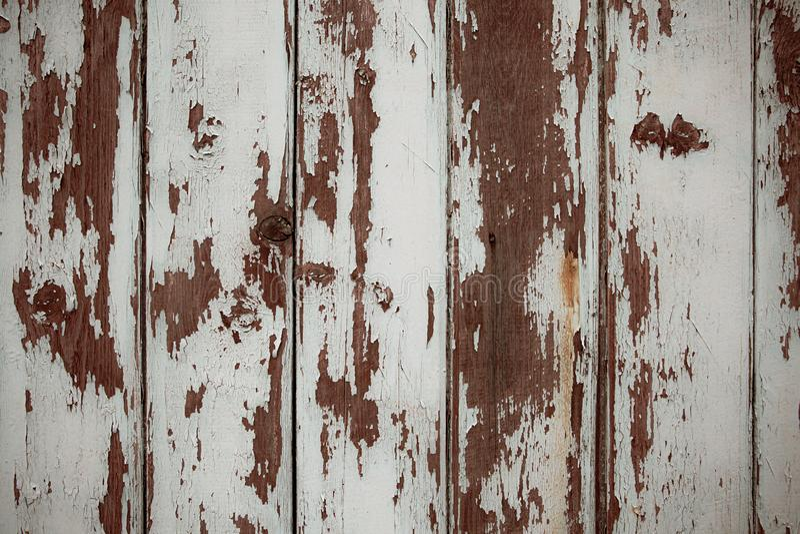 Witte en bruine echte Houten Textuurachtergrond Uitstekend en Oud stock fotografie