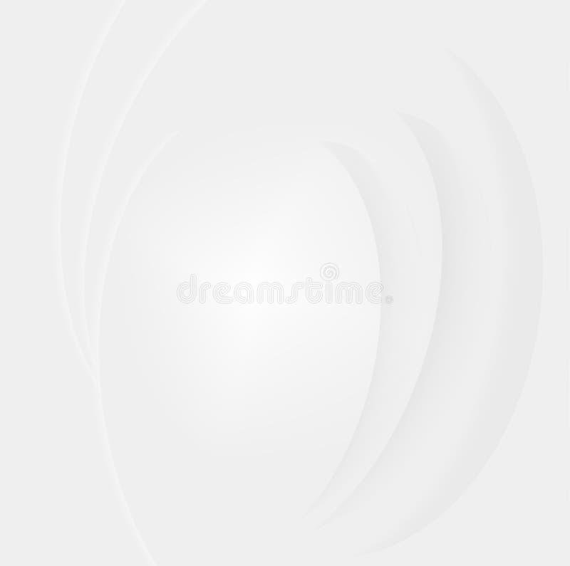 Witte en grijze achtergrondlijn abstracte achtergrond royalty-vrije illustratie