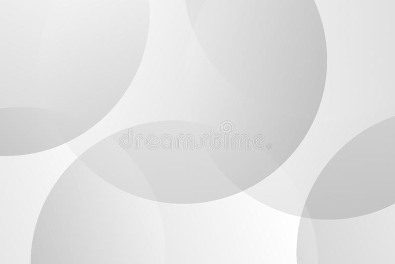 Witte en grijze cirkelkromme abstracte vector als achtergrond voor presentatie Achtergrond en abstract concept vector illustratie