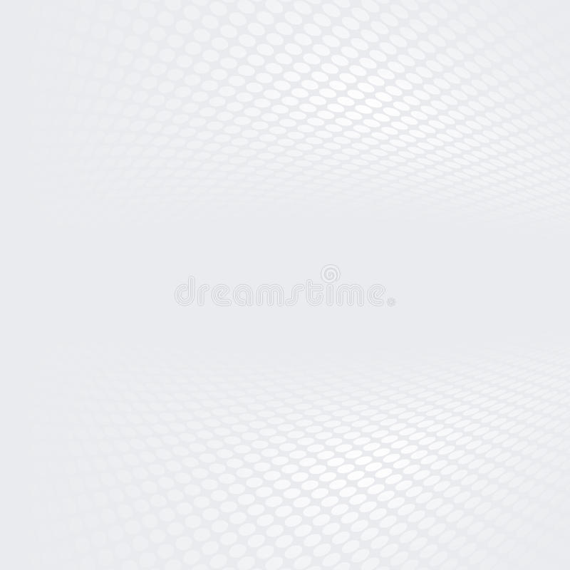 Witte en grijze halftone gestippelde perspectiefachtergrond royalty-vrije stock fotografie