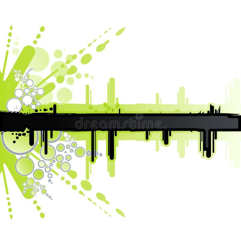 Witte en groene retro banner stock illustratie