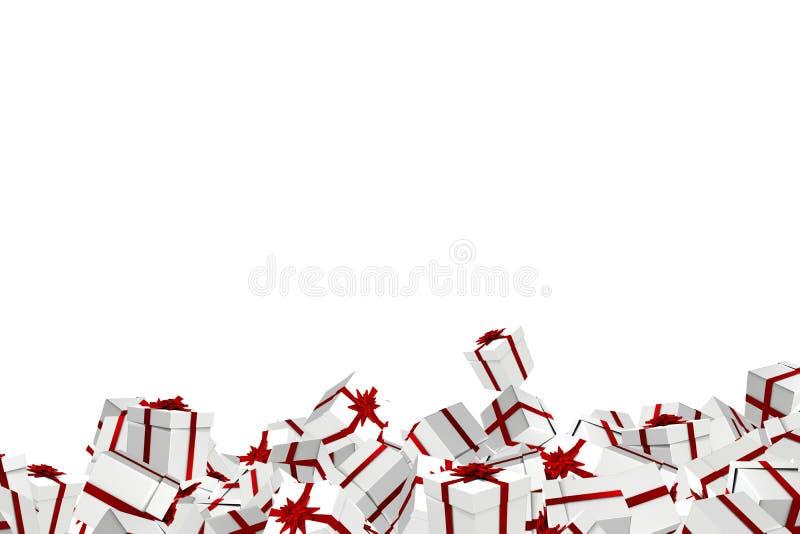 Witte en rode Kerstmis stelt voor stock illustratie