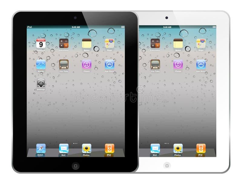 Witte en zwarte iPad 2 stock afbeelding