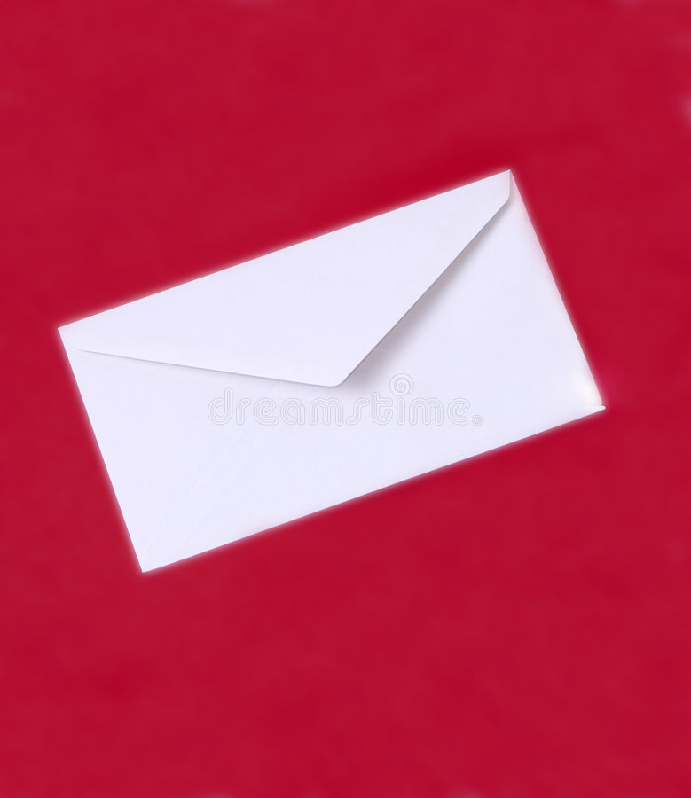 Witte envelop royalty-vrije stock foto