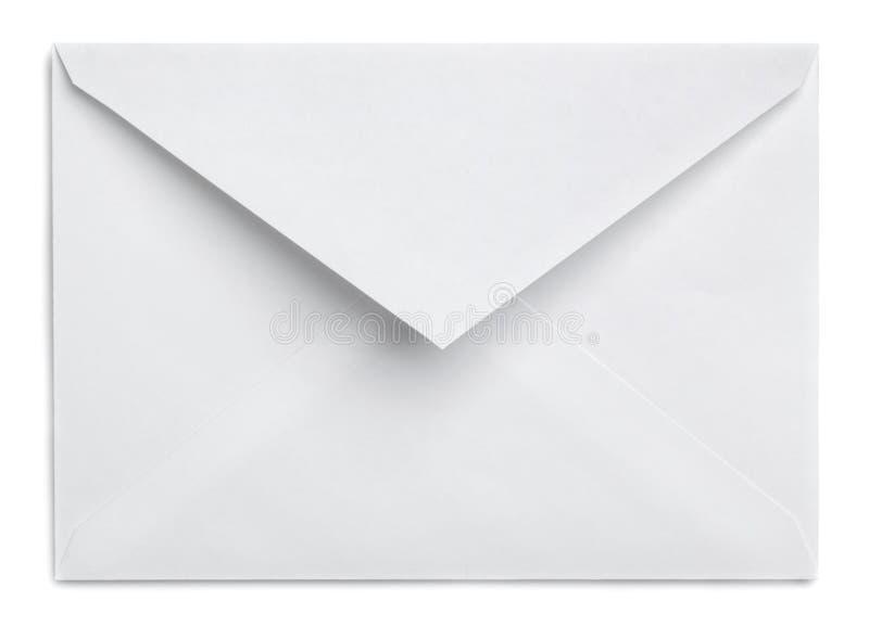 Witte envelop royalty-vrije stock afbeelding