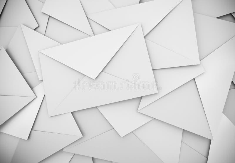 Witte enveloppen vector illustratie