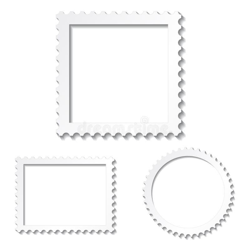 Witte fotoframes royalty-vrije illustratie