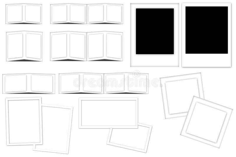 Witte frames en dia's royalty-vrije illustratie