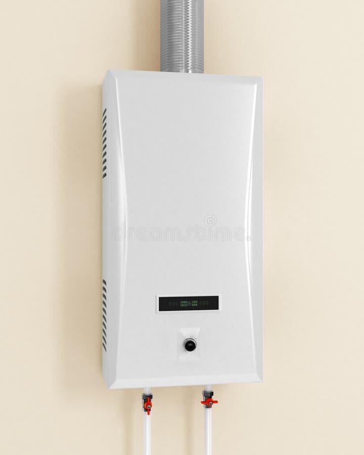 Witte gasboiler vector illustratie