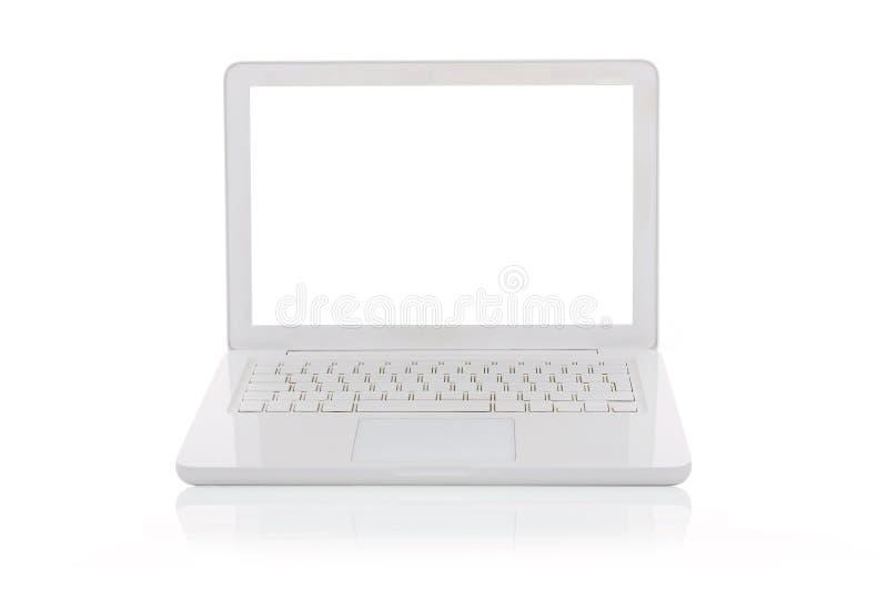 Witte geïsoleerd Laptop stock afbeelding