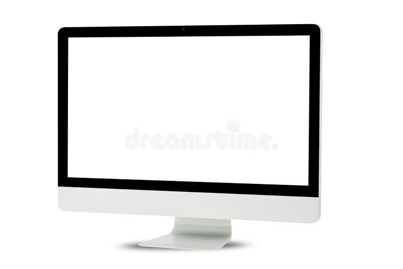 Witte geïsoleerde computermonitor royalty-vrije stock foto's