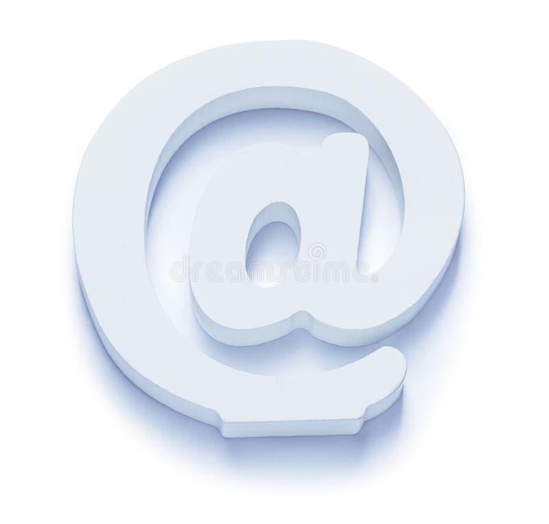 Witte geïsoleerde e-mailsymbool voor contacten en e-mail stock afbeelding