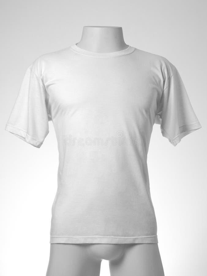 Witte Geïsoleerde t-shirt stock fotografie