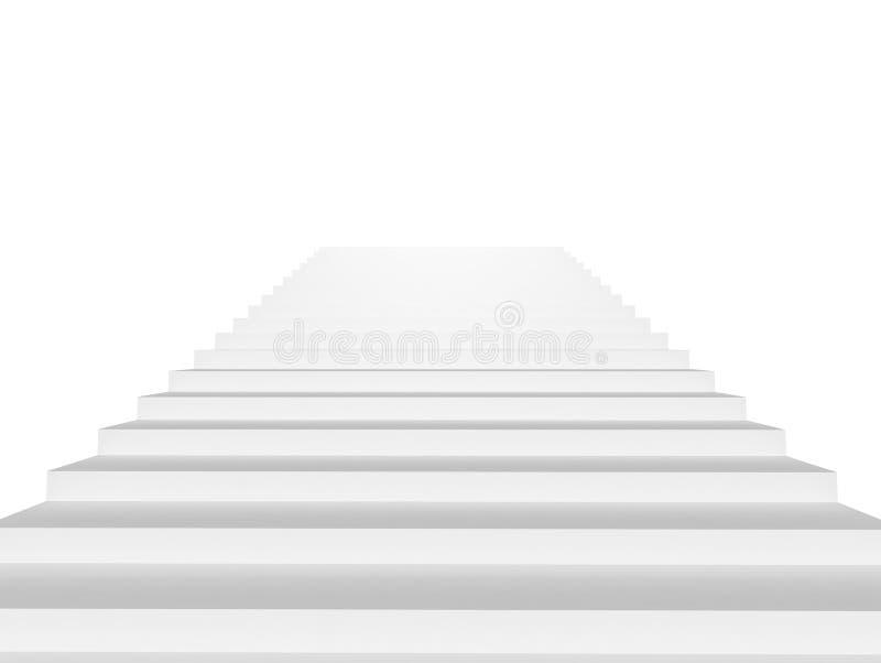 Witte geïsoleerde trap stock foto's