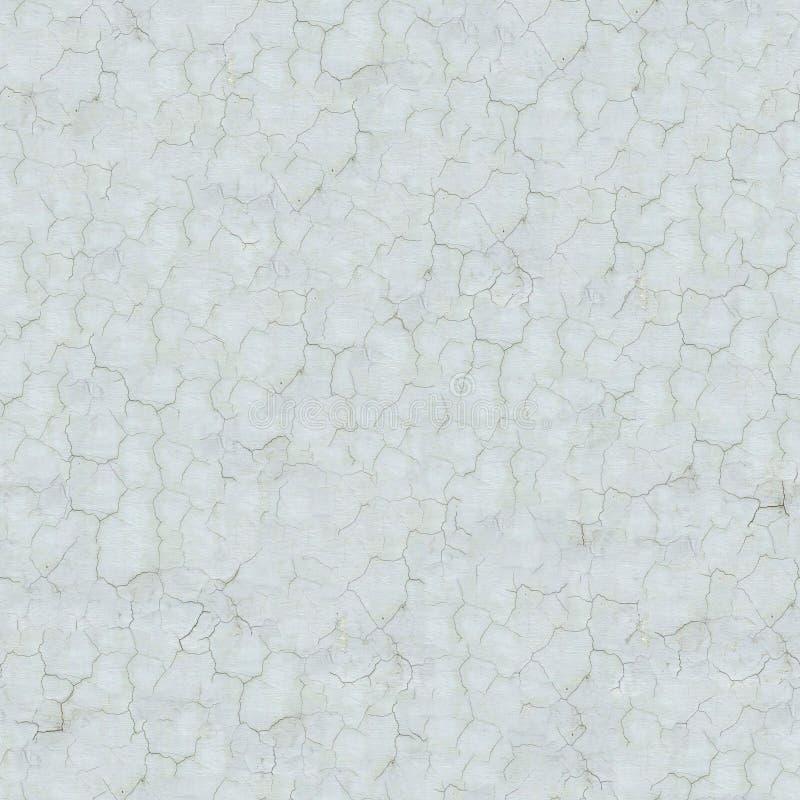Witte Gebarsten Muur. Naadloze Textuur. stock fotografie