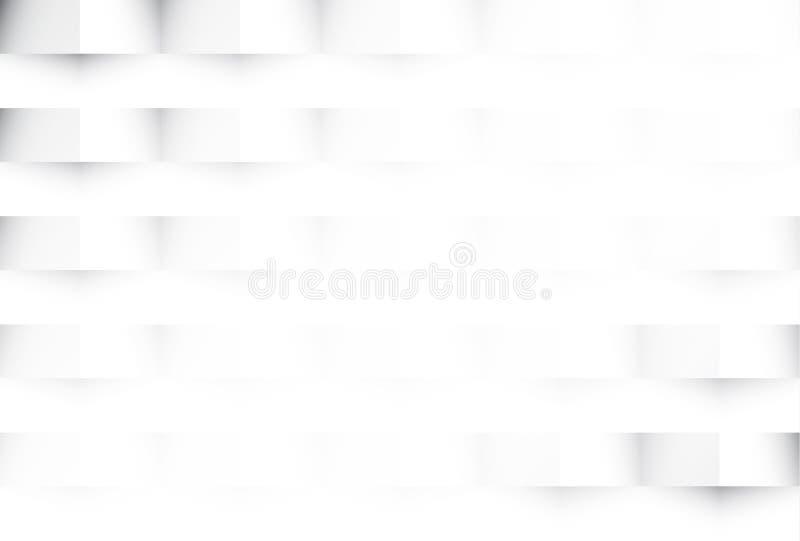 Witte geometrische abstracte textuurachtergrond stock illustratie