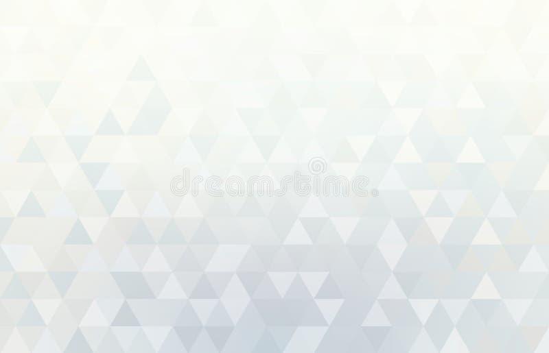 Witte geometrische achtergrond Abstract licht driehoekenpatroon stock illustratie