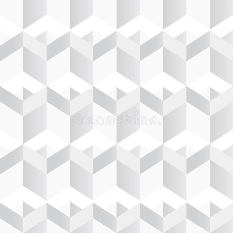 Witte Geometrische Textuur Naadloze Achtergrond royalty-vrije illustratie