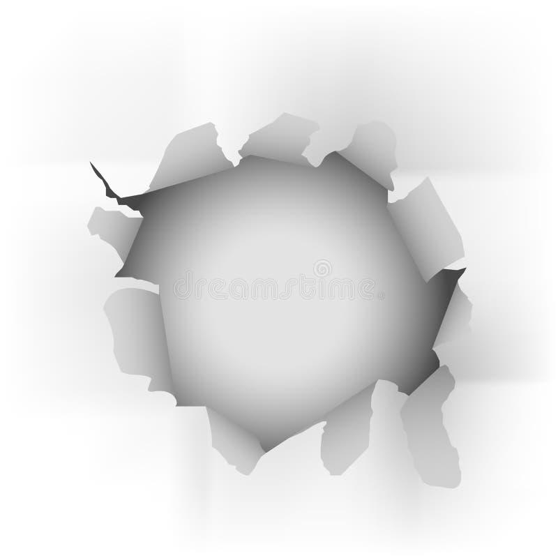 Witte gescheurde document vector royalty-vrije illustratie