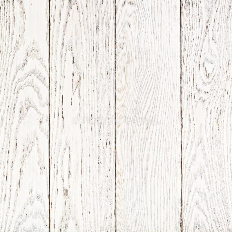 Witte Geschilderde Eiken Raadsachtergrond stock afbeelding