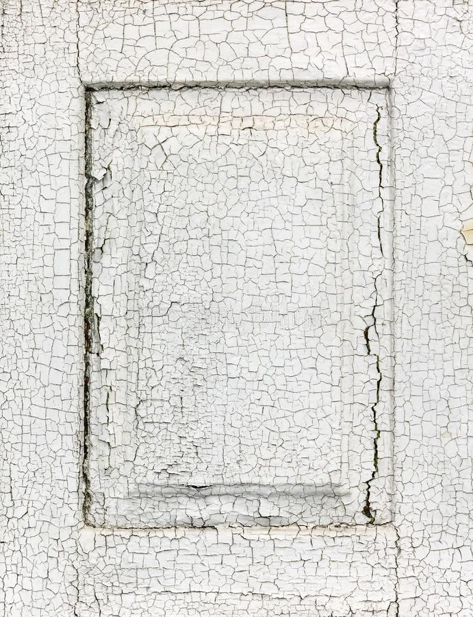 Witte geschilderde houten vensterblinden met barsten royalty-vrije stock afbeeldingen