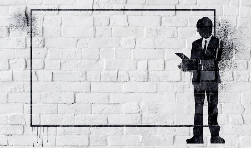 Witte Geschilderde Mooie Bakstenen muur stock fotografie