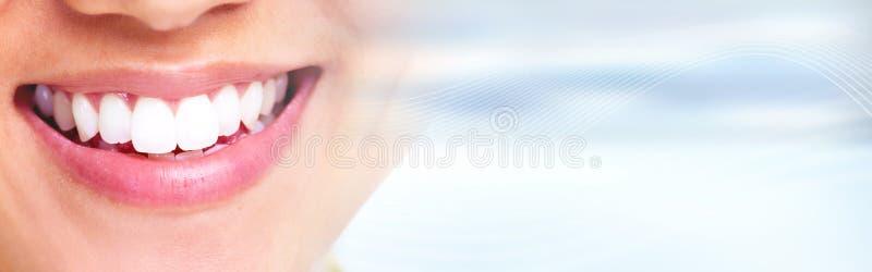 Witte gezonde glimlach royalty-vrije stock foto's