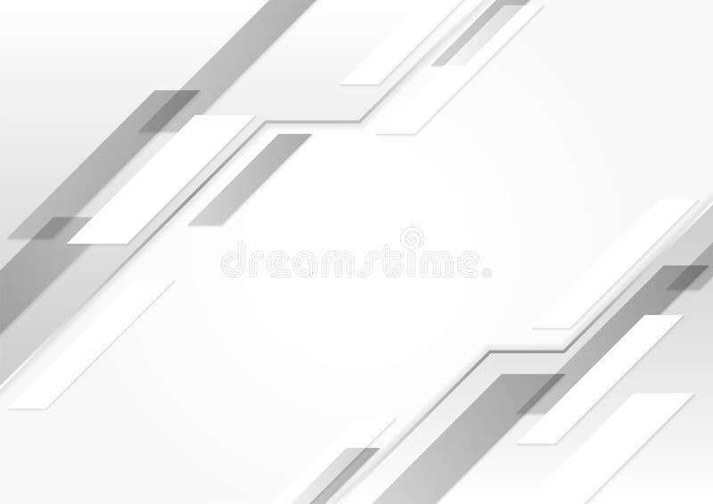 Witte glanzende technologieachtergrond stock foto