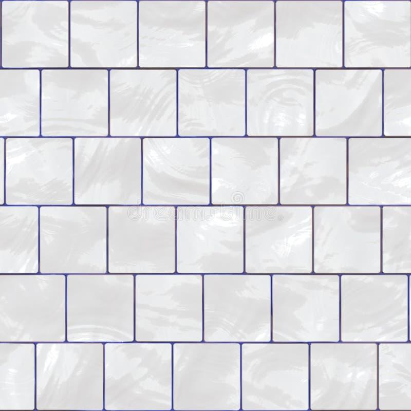 Witte glanzende tegel vector illustratie