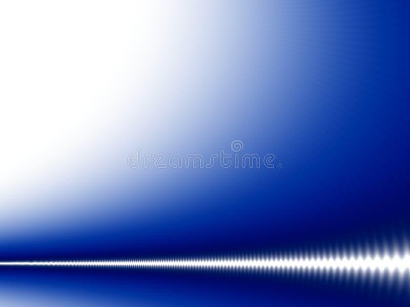 Witte golf op blauw stock illustratie