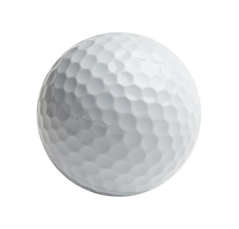 Witte Golfbal stock afbeelding