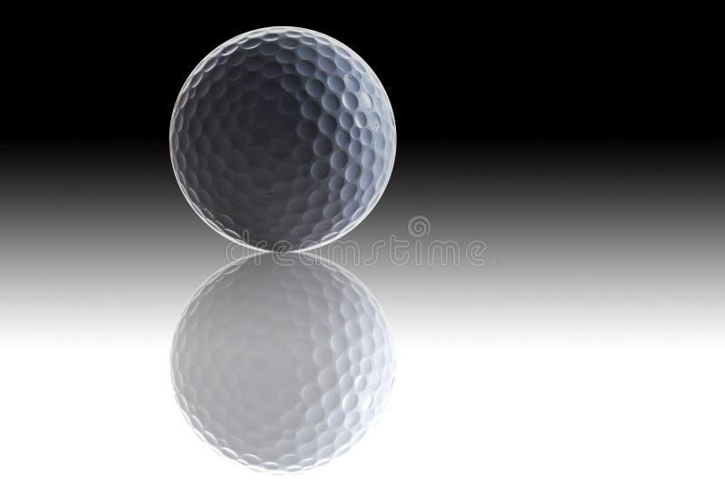 Witte golfbal en schaduw stock afbeelding