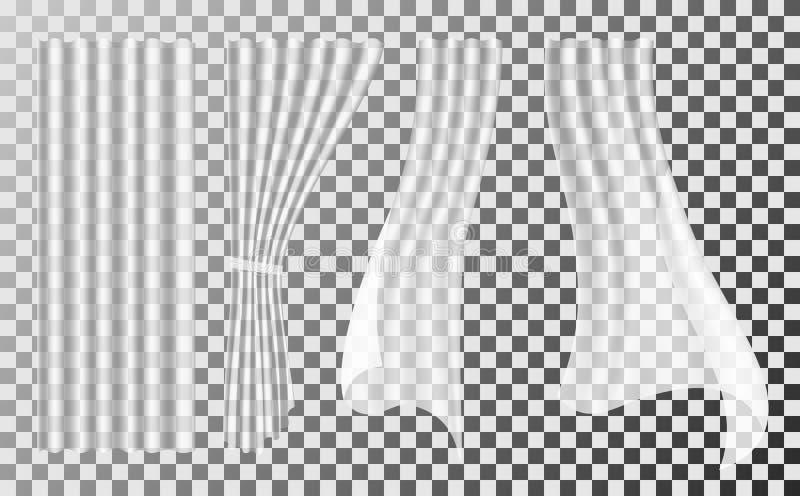 Witte gordijnen vector illustratie