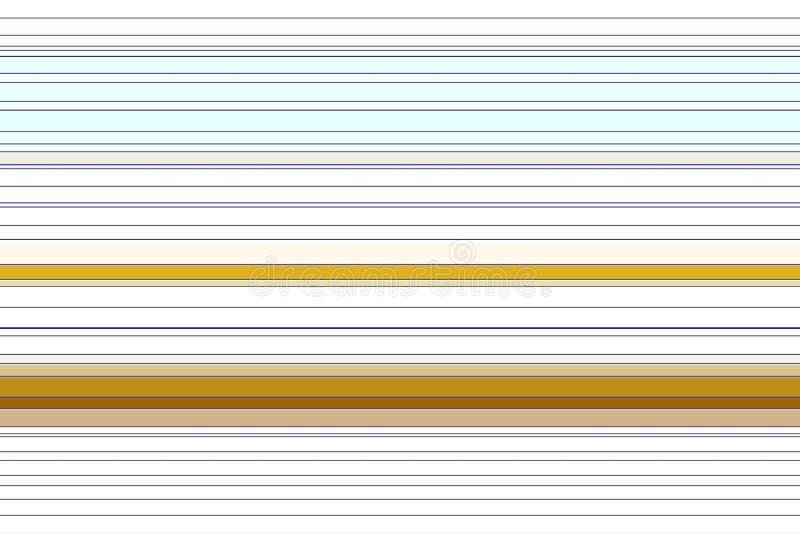 Witte gouden contrastlijnen, abstracte textuur, patroon stock illustratie