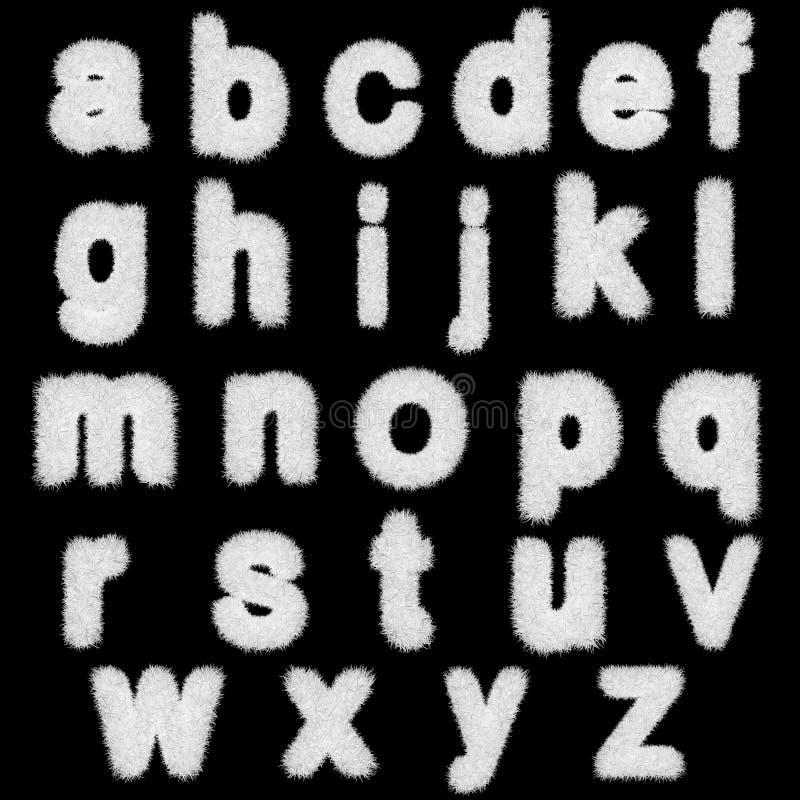 Witte grasbrieven, hoger en in kleine letters vector illustratie