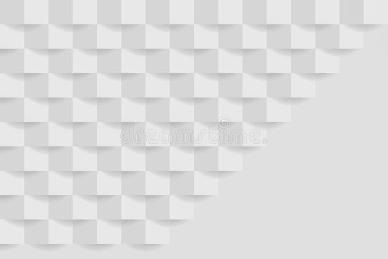 Witte grijze geometrische textuur Abstract grafisch ontwerp als achtergrond vector illustratie