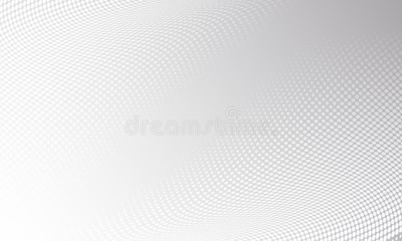 Witte grijze moderne heldere halftone patroonachtergrond Vector digitaal grafisch ontwerp, de achtergrond van de motietextuur royalty-vrije illustratie