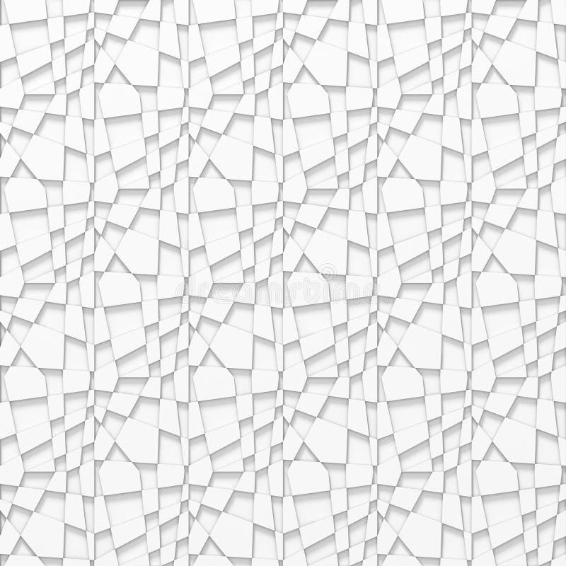 Witte grijze naadloze textuur Rooster moderne achtergrond vector illustratie