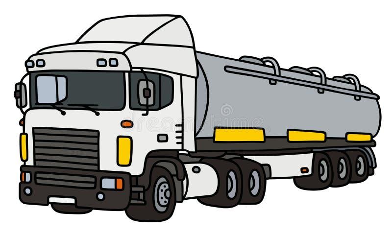 Witte grote tankoplegger royalty-vrije illustratie