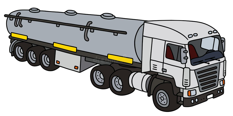 Witte grote tankoplegger stock illustratie