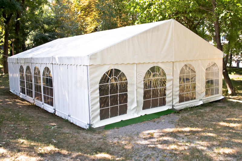 Witte grote tent royalty-vrije stock foto