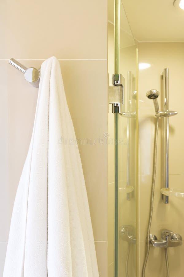 Witte handdoek royalty-vrije stock foto's