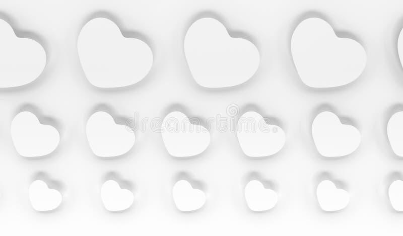 Witte harten stock afbeeldingen