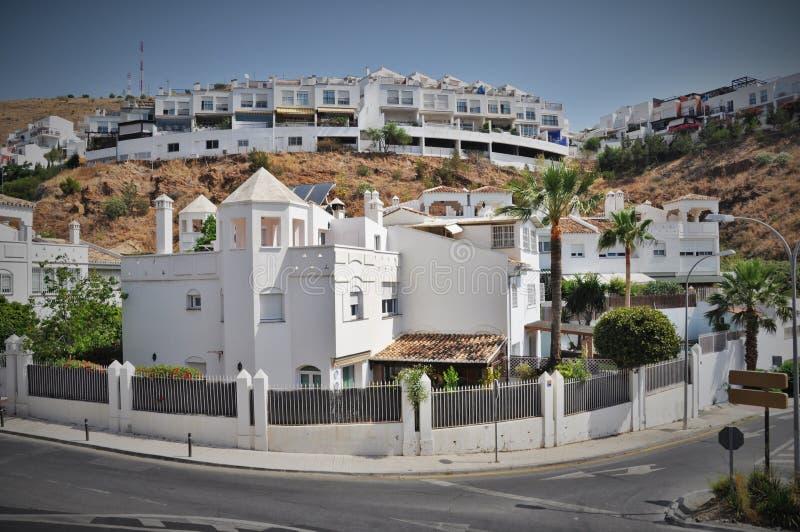 Witte hauses Malaga Spanje royalty-vrije stock afbeeldingen