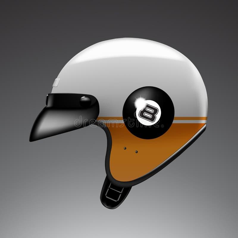 Witte helm stock afbeelding