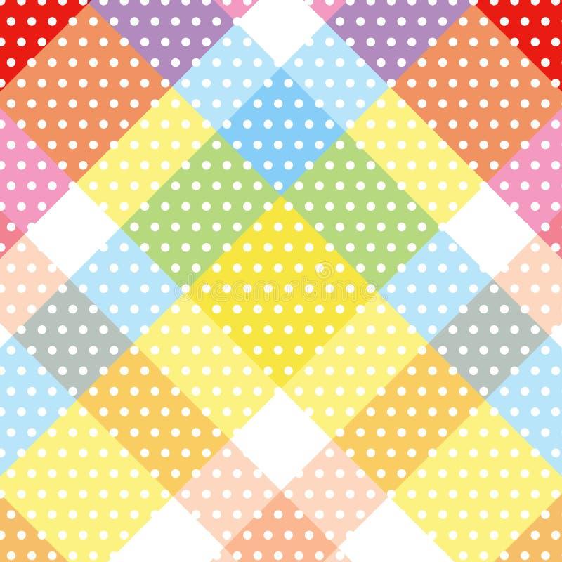 Witte het patroon zoete kleurrijke diagonale dwarsstreptokok van de cirkelstip stock afbeelding