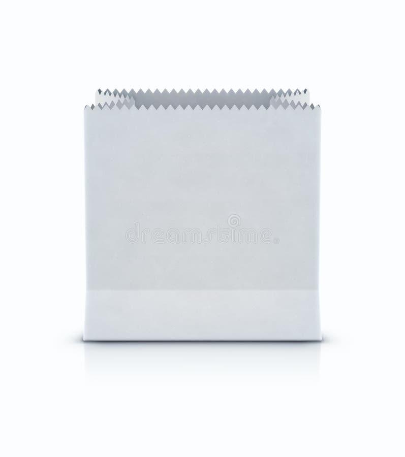 Witte het winkelen document zak vector illustratie