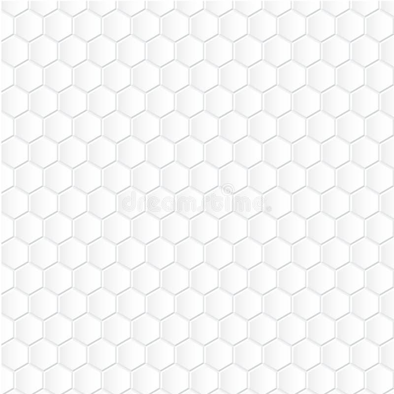 Witte hexagon achtergrond stock illustratie