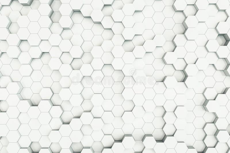 Witte honingraatachtergrond vector illustratie