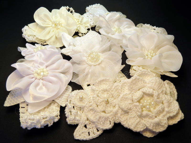 Witte hoofdbanden royalty-vrije stock fotografie